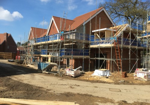 NJS Scaffolding for Linden Homes, Frimley