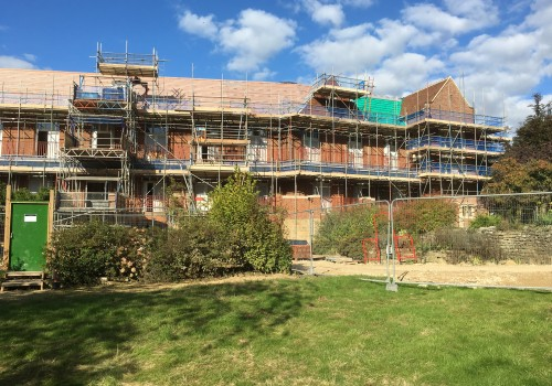 Scaffolding for City & Country at King Edward VII Hospital, Midhurst, West Sussex