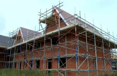 Our scaffolding attached to a private residence.