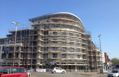 Our scaffolding being used for a new commercial development.